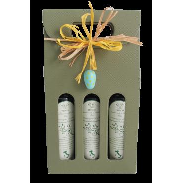 Confezione regalo pasquale-Tris limone, peperoncino e bergamotto