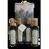 Scatola da 6 bottiglie da 75cl di olio evo TRUSCIA+Tris condimento aromatizzato