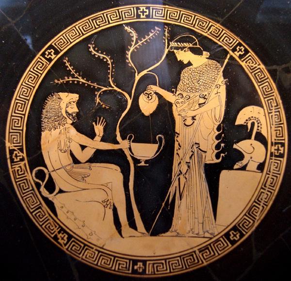 Truscia - Eracle, Atena e l'ulivo sacro